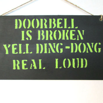 handmade sign humor sign funny sign door sign painted sign wooden