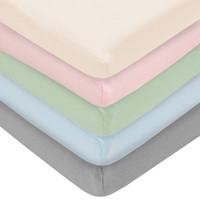 TL Care Cotton Jersey Knit Fitted Crib Sheet