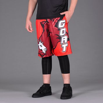 Goat Head Red Shorts