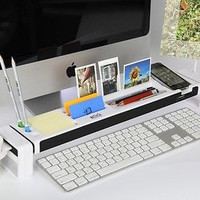 iStick 11 Multifunction Computer Desk Organizer built-in USB Hub,  Card Reader (White)