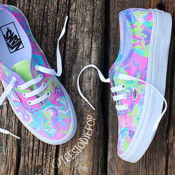 b975e8f10bfd Moonstone Custom Vans from TTDF on Etsy