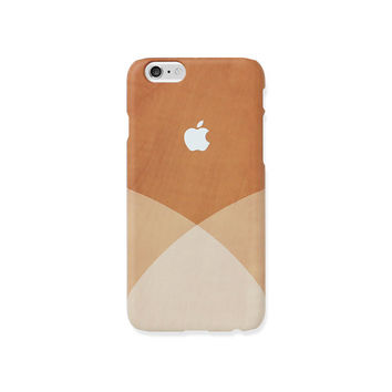 iPhone 6s PLUS case - white shades on wood pattern - iPhone 6s case, iPhone 6s Plus, w/ Good Luck Gold Sticker, matte, L28