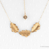 Gold filled, Gold Leaf Necklace