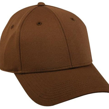 Brown Hard Cotton Baseball Cap