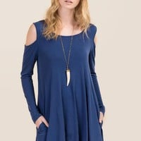 Rachelle Cold Shoulder Shift Dress