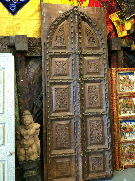 - Antique Indian Doors Vintage Floral From MOGULGALLERY On Etsy