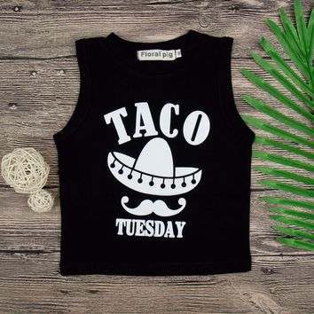 Taco Tuesday Baby Kid Child Toddler Newborn Tank Top