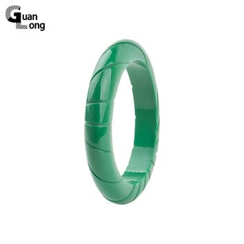 GuanLong Simple Resin Carved Bangle Jewelry 2017 Collection Fashion Femme Bangles & Bracelets Puseiras Jewellery