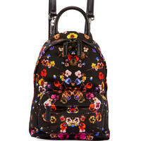 Givenchy Nano Pansies Floral-Print Backpack, Multi