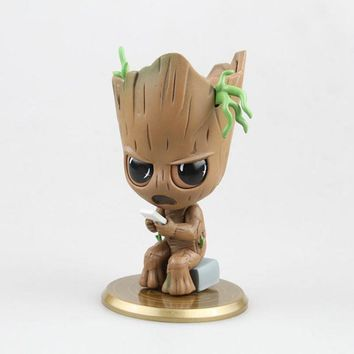 Marvel Guardians of The Galaxy Avengers Cute Baby Tree Man with Bobble Head Action Figure Toys