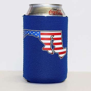 American State of Maryland (Blue) / Can Cooler