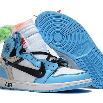 "Air Jordan 1 x Off-White ""North Carolina"" Sport Sneaker"