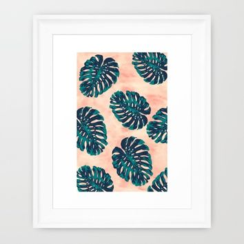 CALIFORNIA TROPICALIA Framed Art Print by Nika