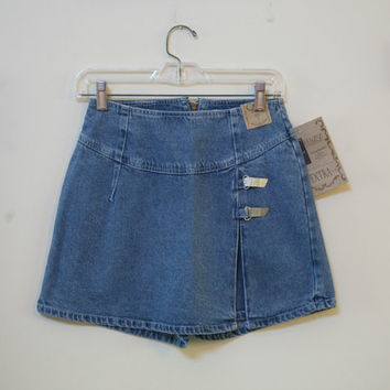 Ladies Denim Skooter with Metal Detailing