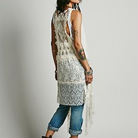 Eis Womens Elsa Long Lace Vest