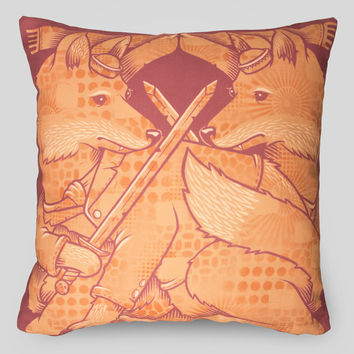 The Foxes Pillow by Jeremy Fish