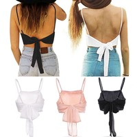 FUNOC® Women Sleeveless Camisole Shirt Summer Casual Blouse Crop Tops Tank Vest