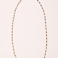 BLACK BEAD AND GOLD NECKLACE