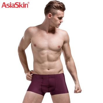 2017 Mens Underwear Boxers Solid Fashion Ultra-thin Seamless Spandex Nylon Ice Silk Boxer Shorts Sexy Transparent Cueca Boxer