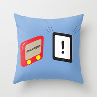 Tablet father Throw Pillow by Tony Vazquez