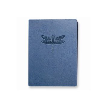 Blue Dragonfly Faux Leather Essentials Journal - Embossing Gift Item