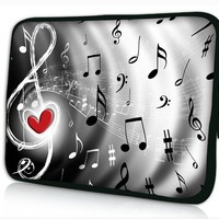 "Music Note 13"" Laptop Sleeve Bag Case PC Pouch Cover For 13.3"" Samsung Series 5 9 Ultrabook,13.3"" Apple MacBook Pro,Air,Acer Aspire S3 S7,13.3"" Toshiba Portege /Macbook Pro,Air,Dell Adamo XPS 13 Laptop Notebook,HP pavilion dv3 Macbook Pro,Samsung Ativ Book"