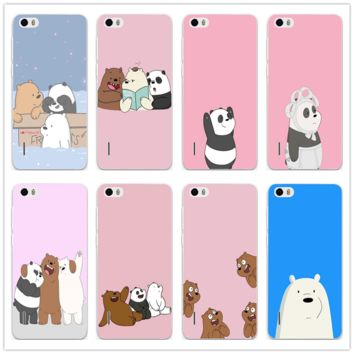 We Bare Ice Bear Panda Style Soft TPU Cell Phone Cases for Huawei P20 P10 P9 P8 Lite Mate 10 Pro Y5 Y6 II Y7 Honor 6X 7X 9 Lite
