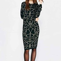Numph Evelyn Sweater Dress- Black Multi