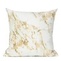 """Gold Marble Digital Printing Flannel Pillow 18""""X18"""""""