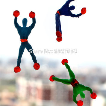 5pcs/lots Cabinets doors walls glass Marvel Legends Tricky educational children's Climbing Spider-Man Amazing Spiderman Toys