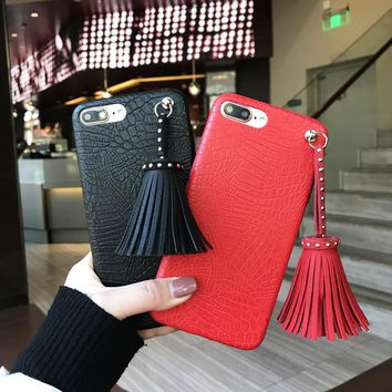 Crocodile Tassel Case