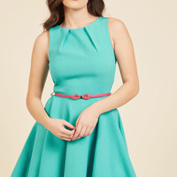 Luck Be A Lady A-Line Dress in Robin's Egg | Mod Retro Vintage Dresses | ModCloth.com