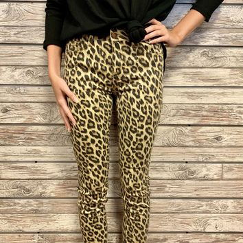 Wild Thing Skinny Jeans- Leopard
