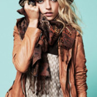 Muubaa Tan Biker Jacket at Free People Clothing Boutique