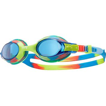 Tyr - Swimples Yellow Tie Dye Swim Goggles / Blue Lenses