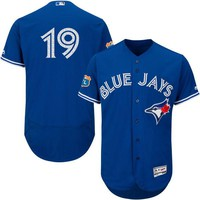 Men's Toronto Blue Jays Jose Bautista Majestic Alternate Bright Royal 2016 Flex Base Authentic Collection On-Field Spring Training Player Jersey
