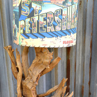Vintage Lamps, Gnarled Driftwood, Driftwood Lamps, 50's Lamps, Mid Century Lamp, Vintage Mid Century Modern Lamps, Gnarled Wood Lamps,