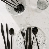 12-Piece Matte Black Flatware Set | Urban Outfitters