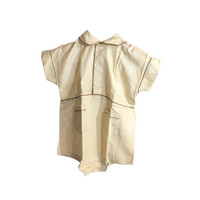 Silk Toddler Onesuit, 1920s Fashion, Metal Snaps, Antique Baby Outfit, Roaring Twenties Babies