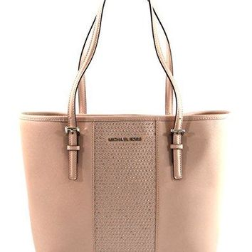 MICHAEL Michael Kors Women's Jet Set Travel Micro Stud Leather Carry All Tote Handbag Michael Kors bag