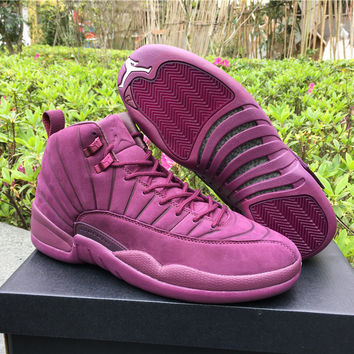 "AJ 12 PSNY x Air Jordan 12 ""Purple"" Men Basketball Shoes"
