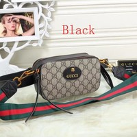 Gucci Women Fashion Tiger Head Waist Bag Shoulder Bag