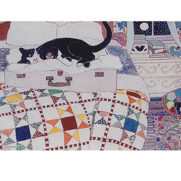 Binky's Suitcase - poster print of cat