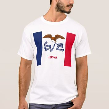 T Shirt with Flag of Iowa State USA