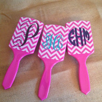 Personalized Paddle Brush in Chevron
