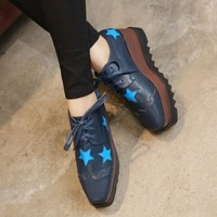Star Thick Crust Wedge Shoes Platform Shoes [6044949761]