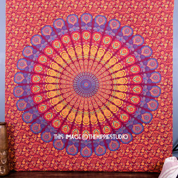 Large Mandala Tapestry, Hippie Tapestries, Tapestry Wall Hanging, Bohemian Tapestry, Tapestry Throw, Wall Tapestries, Dorm Decor Tapestries