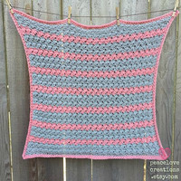 Crochet Baby Blanket~Ready to Ship~FREE SHIPPING