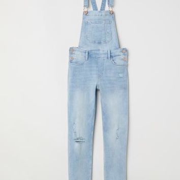 Denim Bib Overalls - Light denim blue - Kids | H&M US