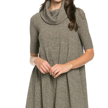 Blushing Beauty Cowl Neck Sweater Dress